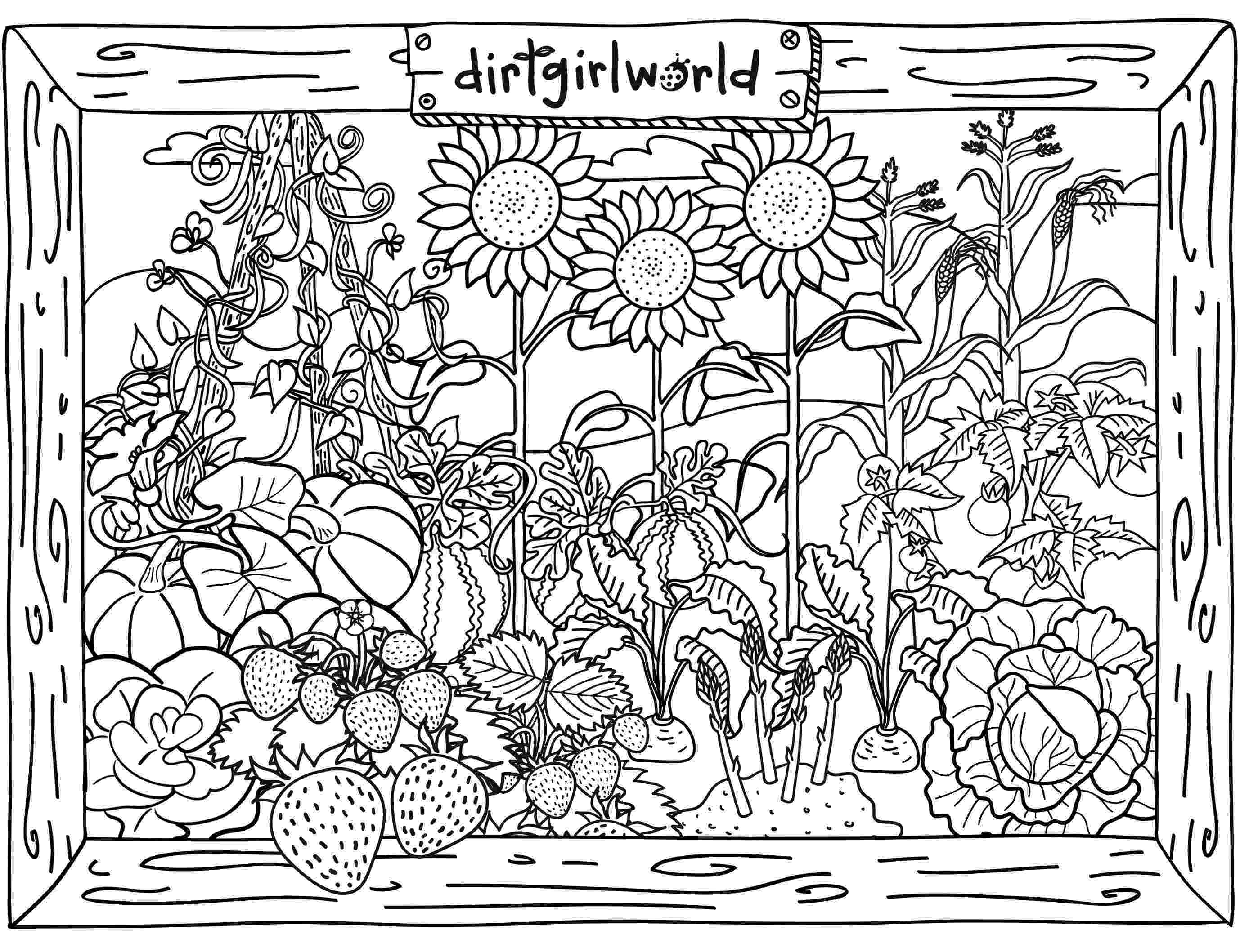 gardening colouring pages flower garden coloring pages to download and print for free pages gardening colouring