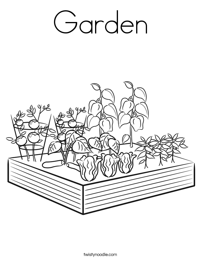 gardening colouring pages garden coloring page twisty noodle gardening pages colouring