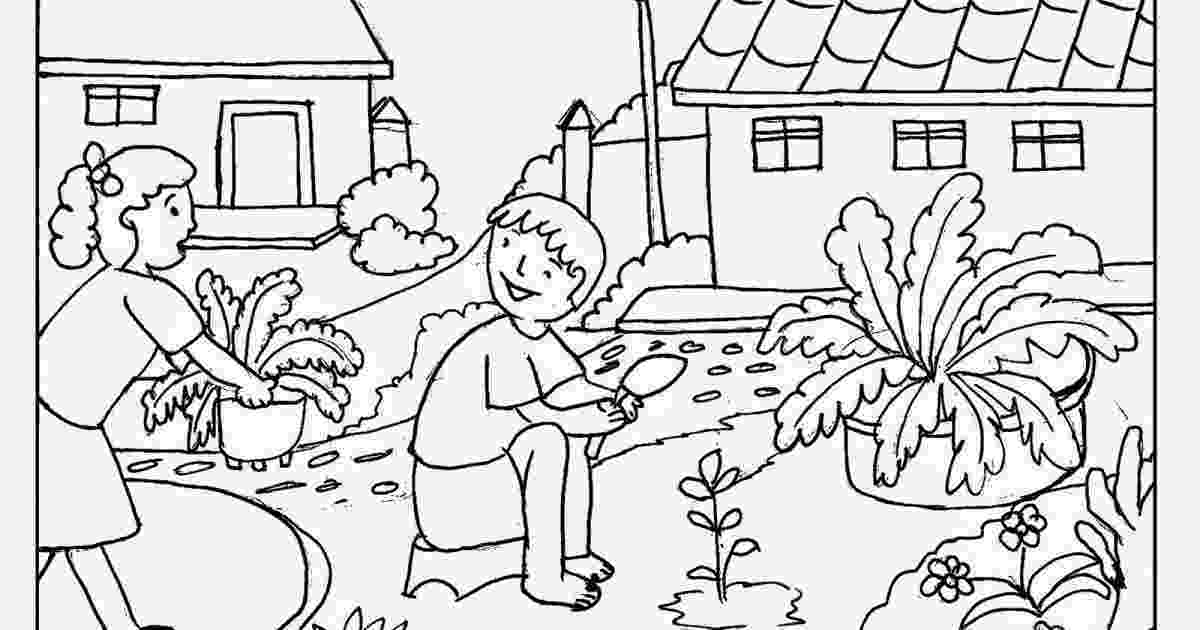 gardening colouring pages gardening coloring pages for kids colouring gardening pages