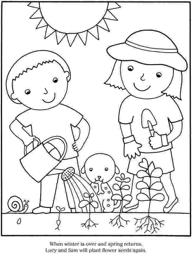 gardening colouring sheets color garden flowers dover publications kleurplaten sheets colouring gardening