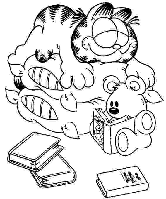 garfield colouring pages garfield coloring pages 360coloringpages colouring garfield pages 1 1
