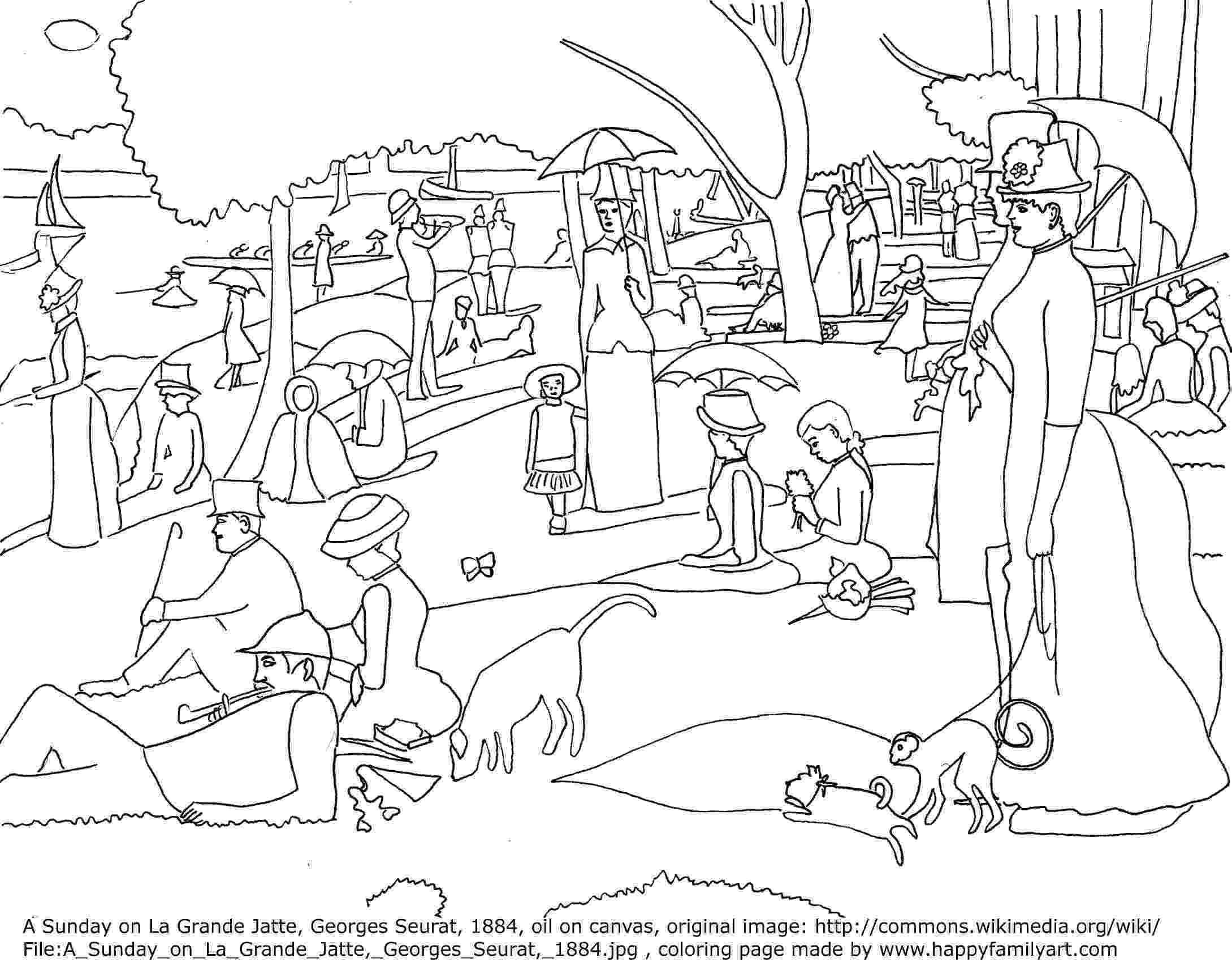 george seurat coloring pages seurat pages coloring pages george pages coloring seurat