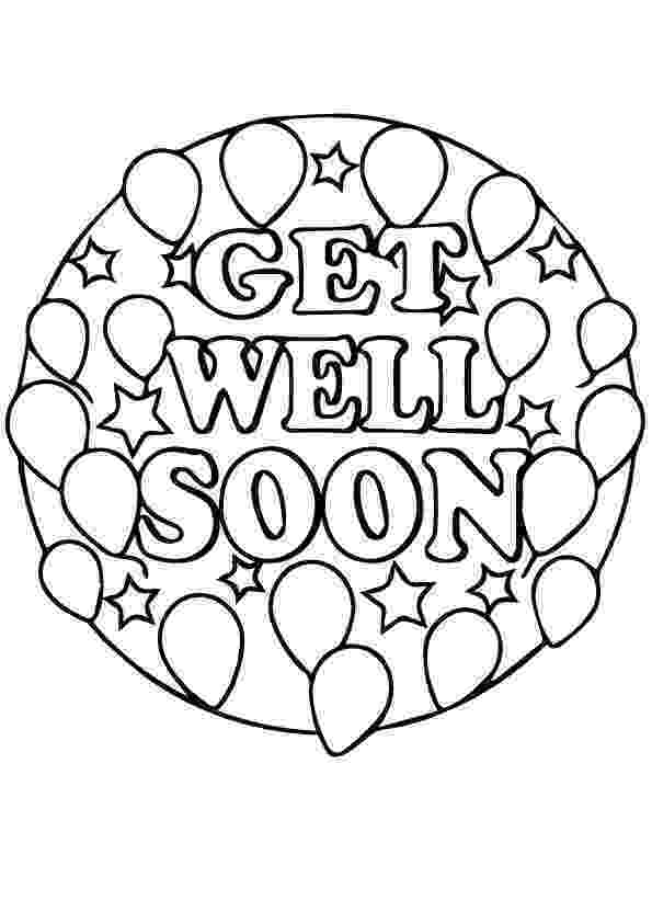 get well soon coloring pages get well soon balloon coloring page crayolacom coloring soon get well pages