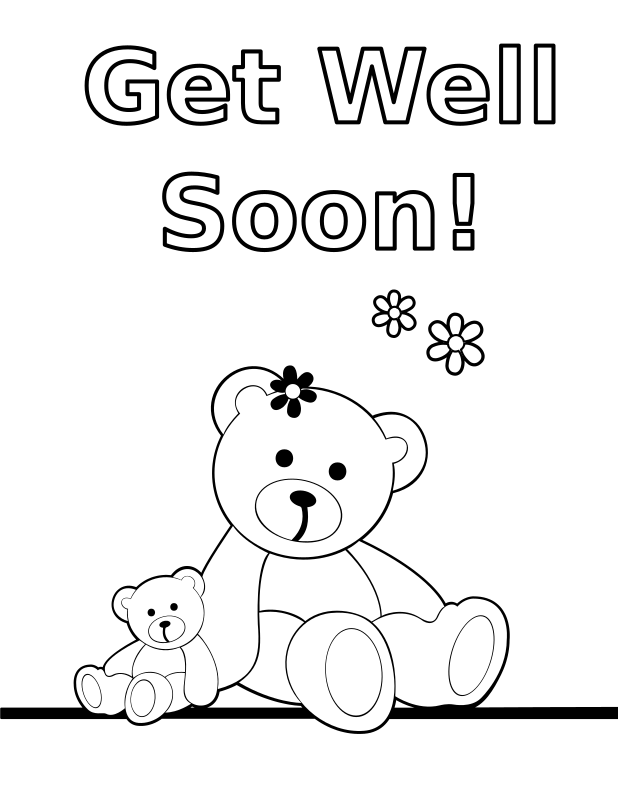 get well soon coloring sheet get well soon coloring pages to download and print for free soon well sheet get coloring