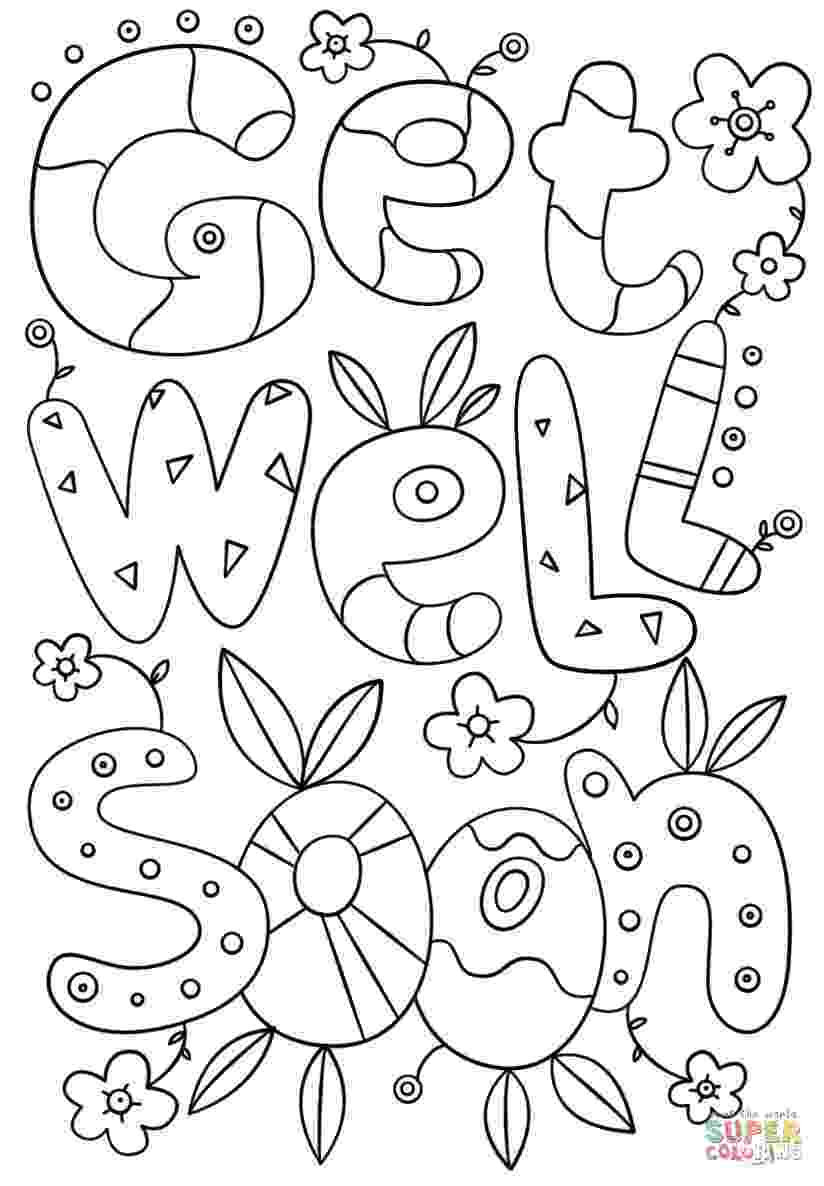 get well soon coloring sheet get well soon coloring pages to download and print for sheet well coloring get soon