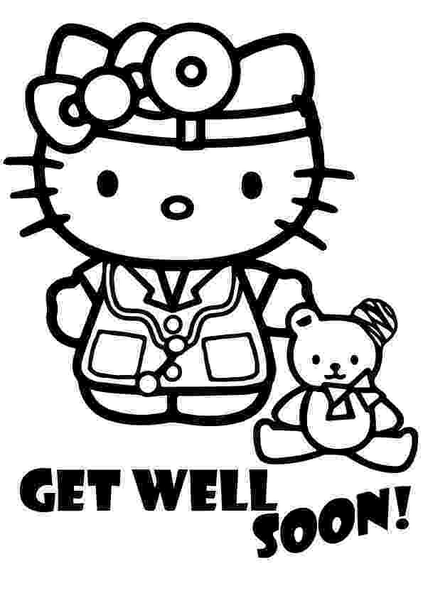 get well soon coloring sheet get well soon coloring sheet hello kitty story words pics sheet soon well get coloring