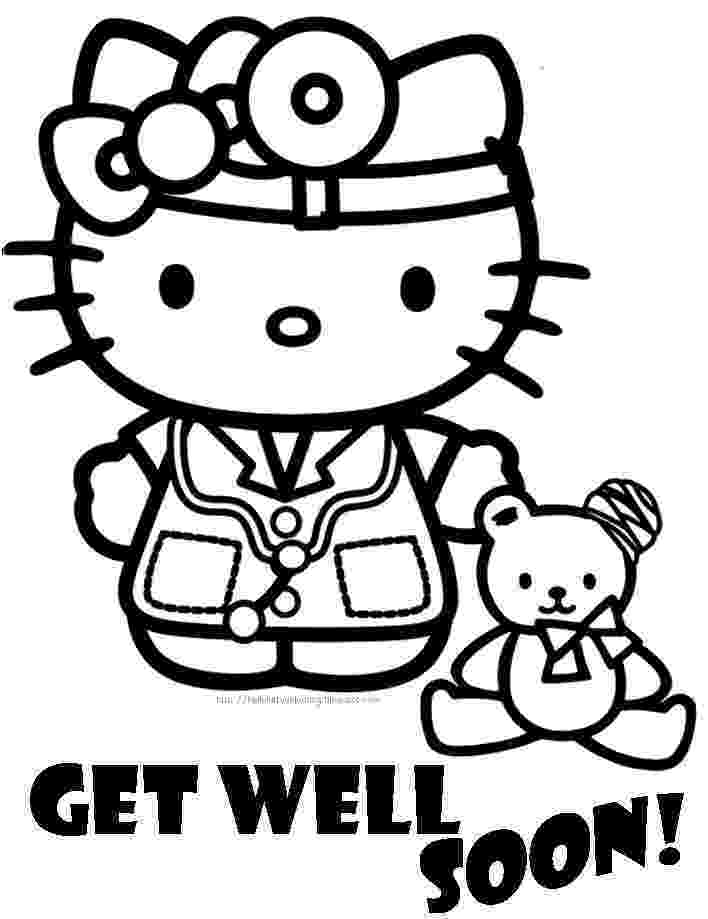 get well soon coloring sheet hello kitty coloring pages get well soon sheet coloring
