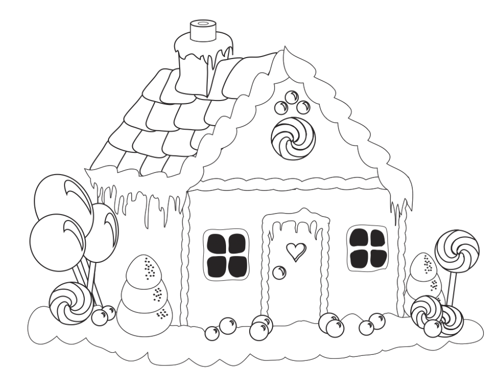 gingerbread house pictures to color coloring cute house and gingerbread houses on pinterest gingerbread pictures house color to