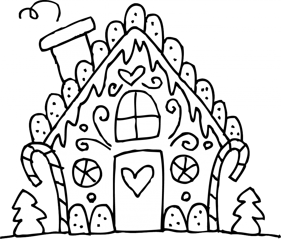 gingerbread house pictures to color printable candy coloring pages for kids cool2bkids house to gingerbread pictures color
