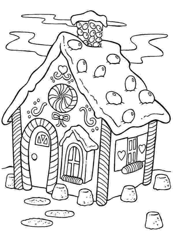 gingerbread house pictures to color printable gingerbread house coloring pages coloring home to house color gingerbread pictures