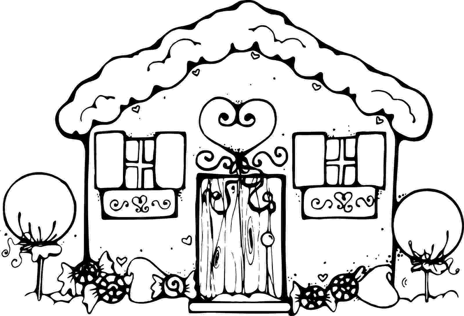 gingerbread house pictures to color printable gingerbread house coloring pages for kids house color pictures to gingerbread