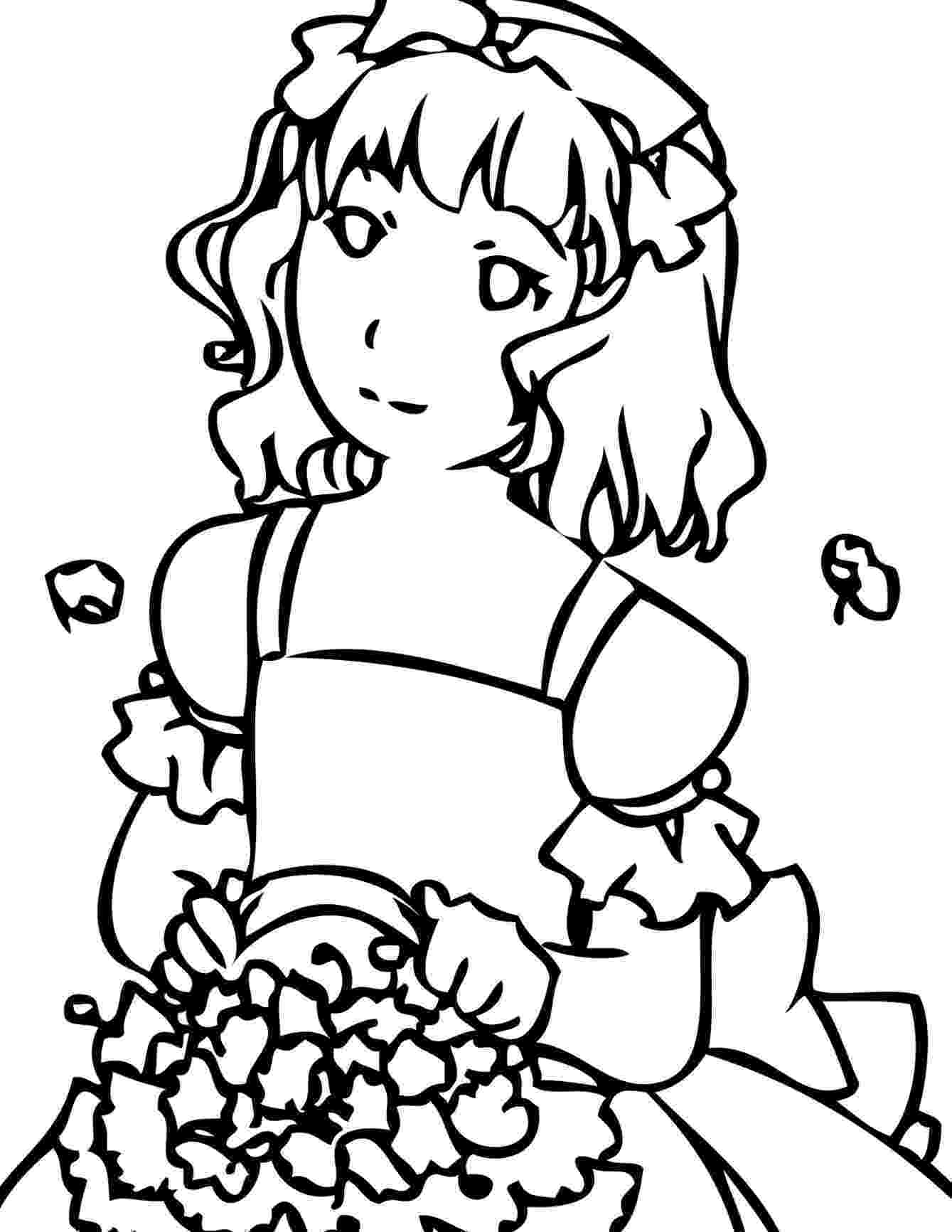 girl colouring pages coloring pages for girls dr odd pages girl colouring
