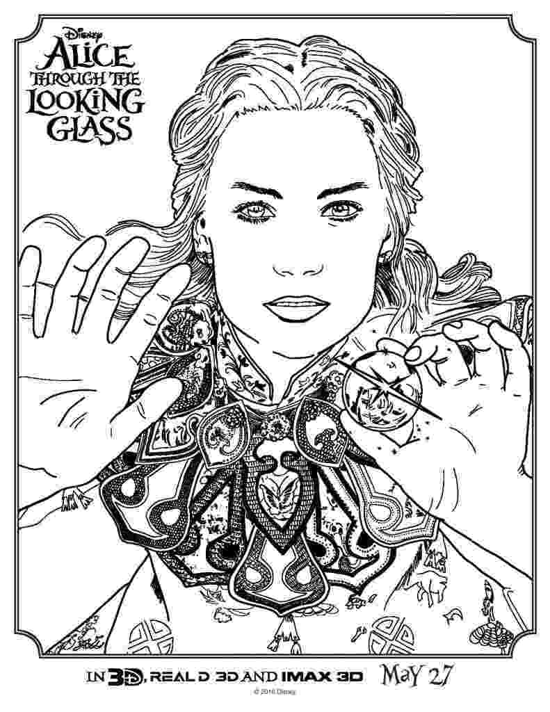 glass coloring page coloring pages from alice through the looking glass life page coloring glass