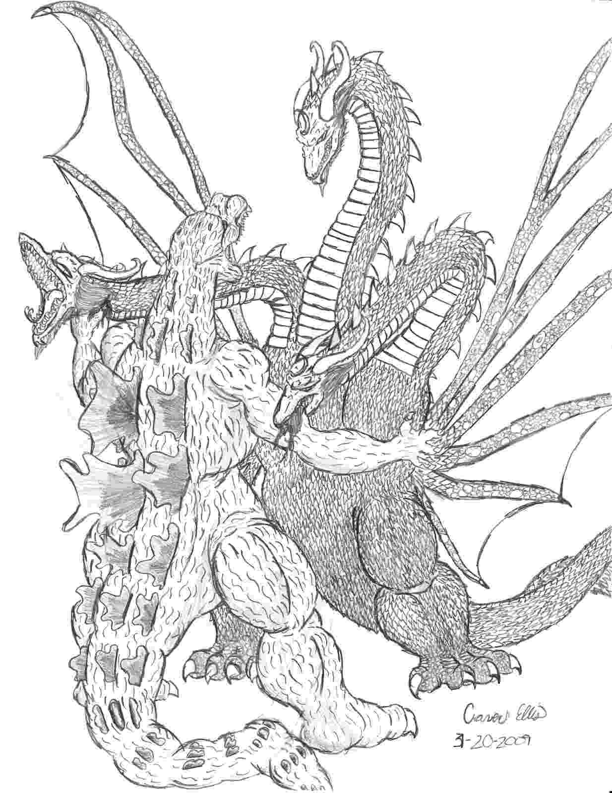 godzilla coloring pages kaiju battle saturday showcase godzilla vs king ghidorah coloring godzilla pages