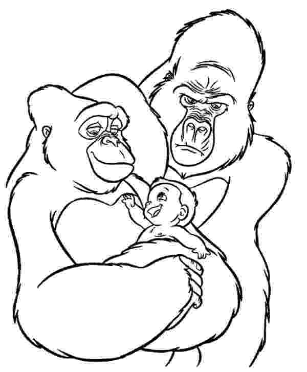 gorilla printable gorilla coloring page free printable coloring pages gorilla printable