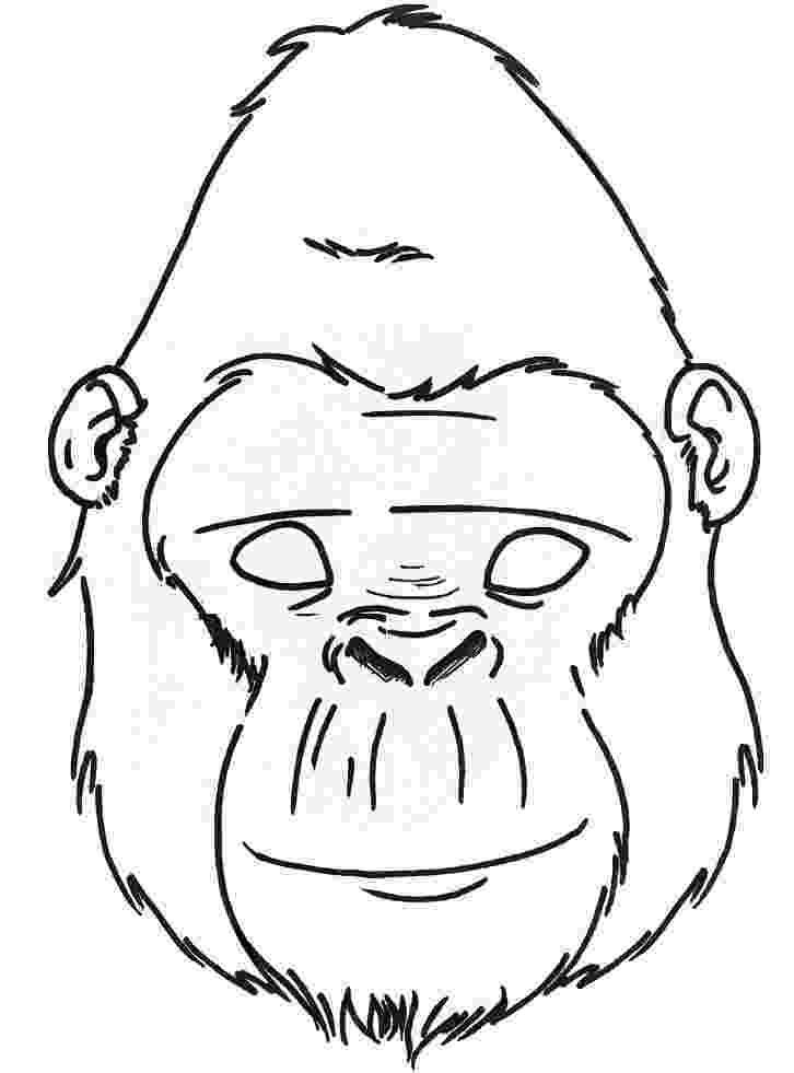 gorilla printable gorilla coloring pages clipart panda free clipart images gorilla printable