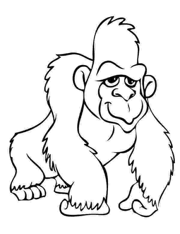 gorilla printable gorilla coloring pages to kids printable gorilla