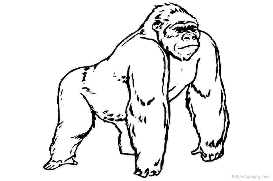 gorilla printable gorilla coloring printable page gorilla printable