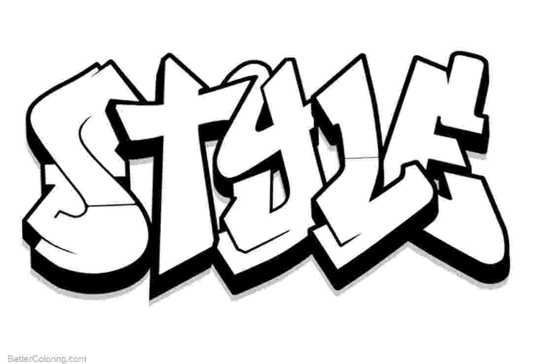 graffiti coloring graffiti coloring pages letters style free printable coloring graffiti