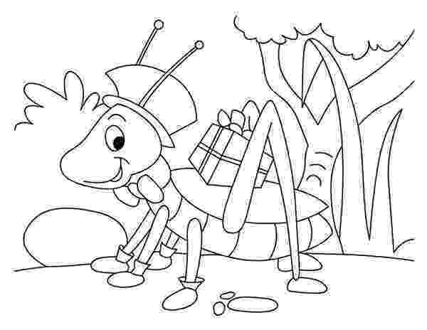 grasshopper coloring pages grasshopper with present coloring page download print coloring grasshopper pages