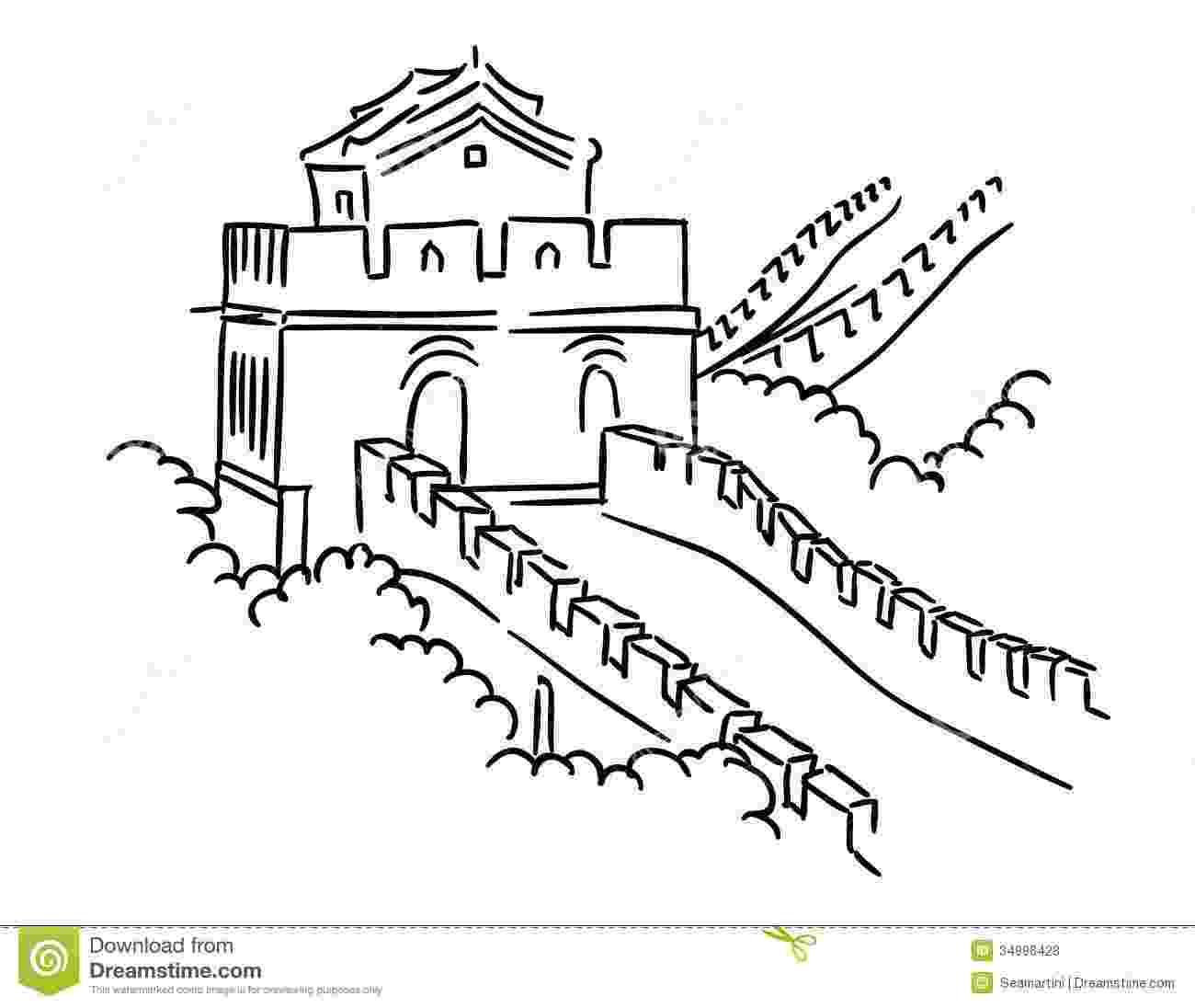 great wall of china coloring sheet desenhos da muralha da china para colorir coloring china of wall sheet great
