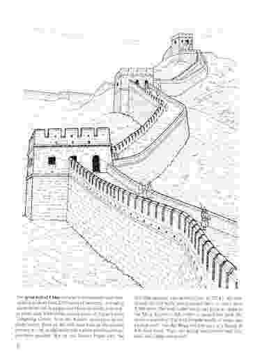 great wall of china coloring sheet dibujos de la muralla china para colorear coloring of great wall china sheet