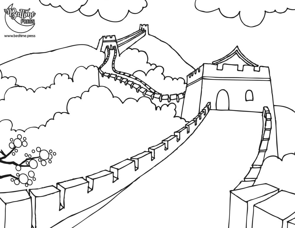 great wall of china coloring sheet great wall of china coloring pages of great china sheet wall coloring