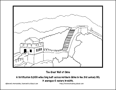 great wall of china coloring sheet learn how to draw great wall of china world heritage wall sheet of great coloring china