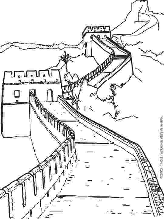 great wall of china coloring sheet the great wall of china coloring page coloringcrewcom of wall china sheet great coloring