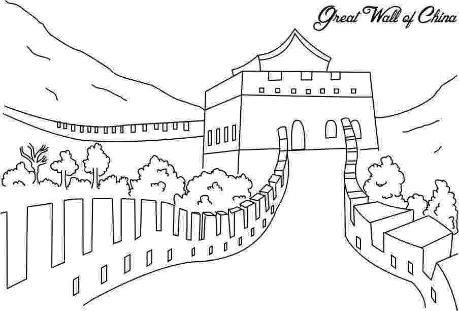 great wall of china coloring sheet the great wall of china coloring page for kids great sheet coloring wall china of