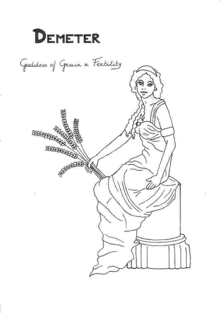 greek pictures to colour demeter coloring page greek god mythology unit study by colour to greek pictures