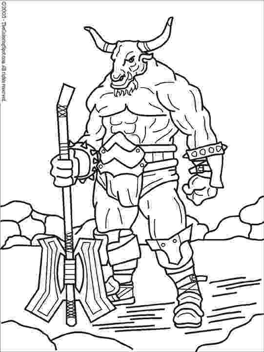 greek pictures to colour minotaur coloring page 1 audio stories for kids free pictures colour greek to