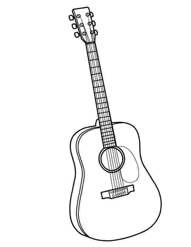guitar coloring page guitar coloring page twisty noodle coloring page guitar