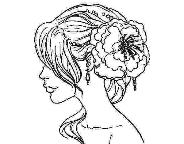 hairstyle coloring pages flower wedding hairstyle coloring page coloringcrewcom pages coloring hairstyle