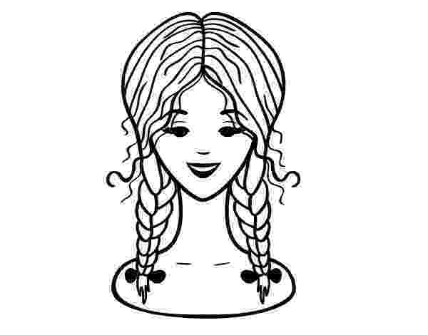 hairstyle coloring pages hairstyle two braids coloring page coloringcrewcom pages hairstyle coloring
