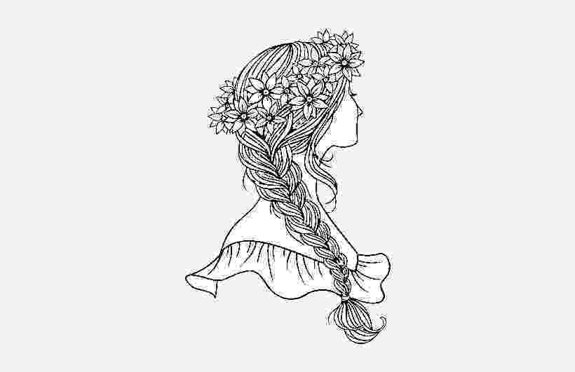 hairstyle coloring pages hairstyle with braid coloring page braided hair coloring pages hairstyle coloring
