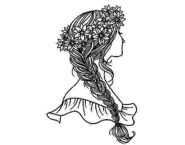 hairstyle coloring pages hairstyle with braid coloring page coloringcrewcom hairstyle coloring pages