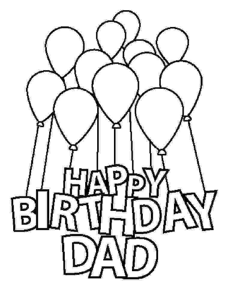 happy birthday colouring pages for dad happy birthday dad free coloring page happy dad pages for birthday colouring