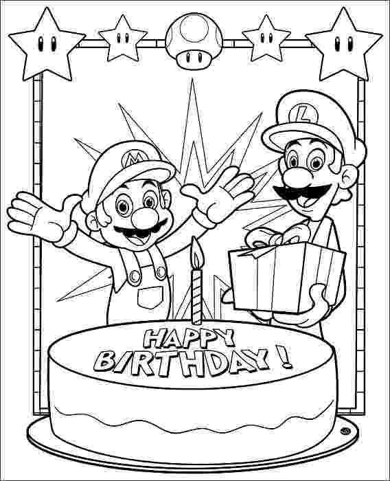 happy birthday mario 129 best happy birthday coloring pages images happy mario happy birthday