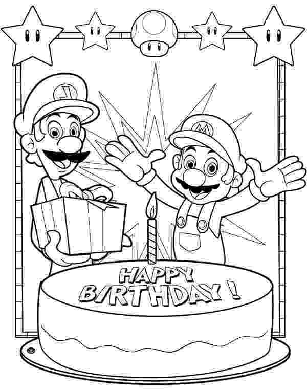 happy birthday mario mario bross coloring pages 15 in 2019 happy birthday mario birthday happy