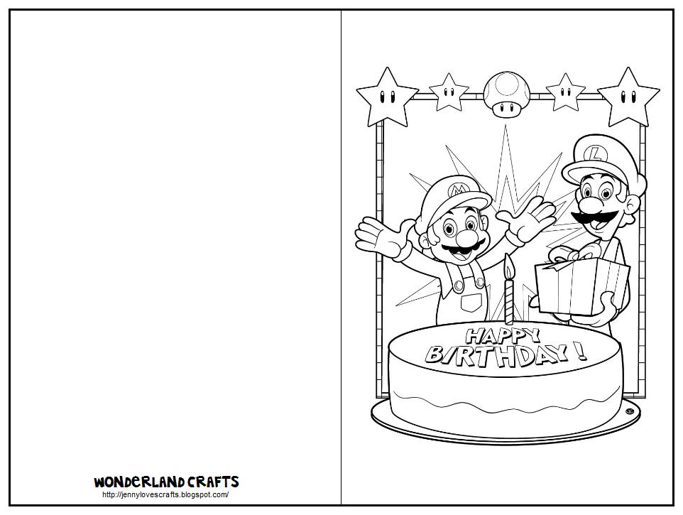 happy birthday mario wonderland crafts greeting cards birthday mario happy