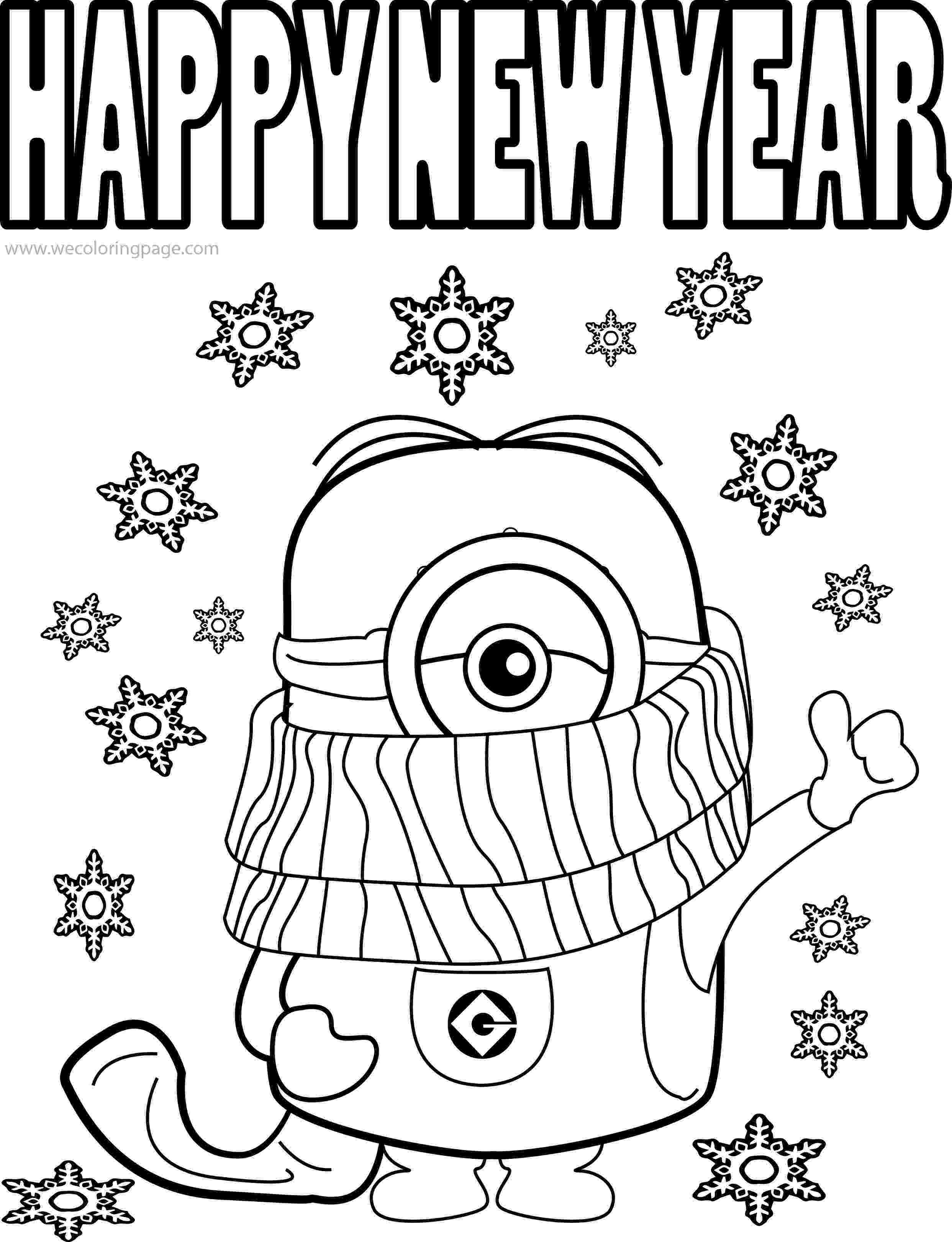 happy new year coloring pages best funny minions quotes and picture cold weather happy pages coloring new year happy