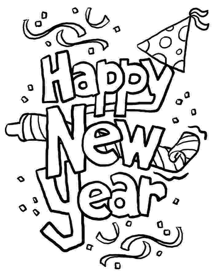 happy new year coloring pages free happy new year colouring pages for kids pages happy year coloring new
