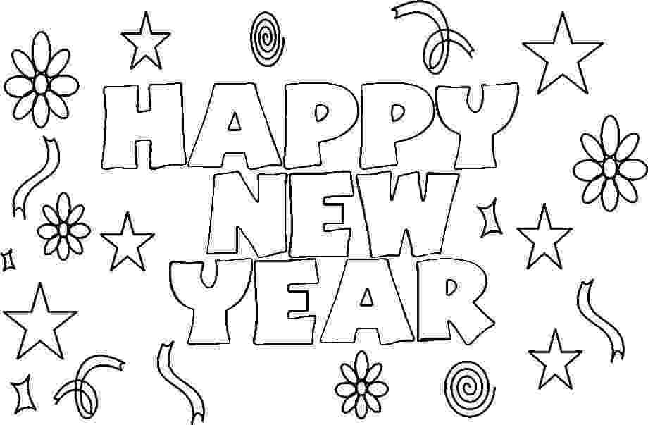 happy new year coloring pages free happy new year colouring pages for kids pages happy year new coloring