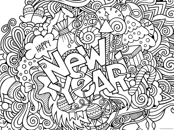 happy new year coloring pages happy new year 2019 coloring pages 1111 pages happy coloring new year