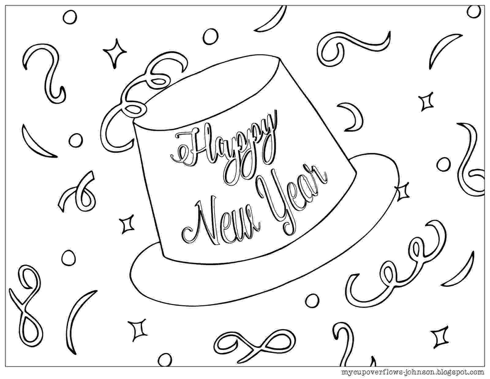 happy new year coloring pages happy new year coloring pages getcoloringpagescom coloring year pages happy new