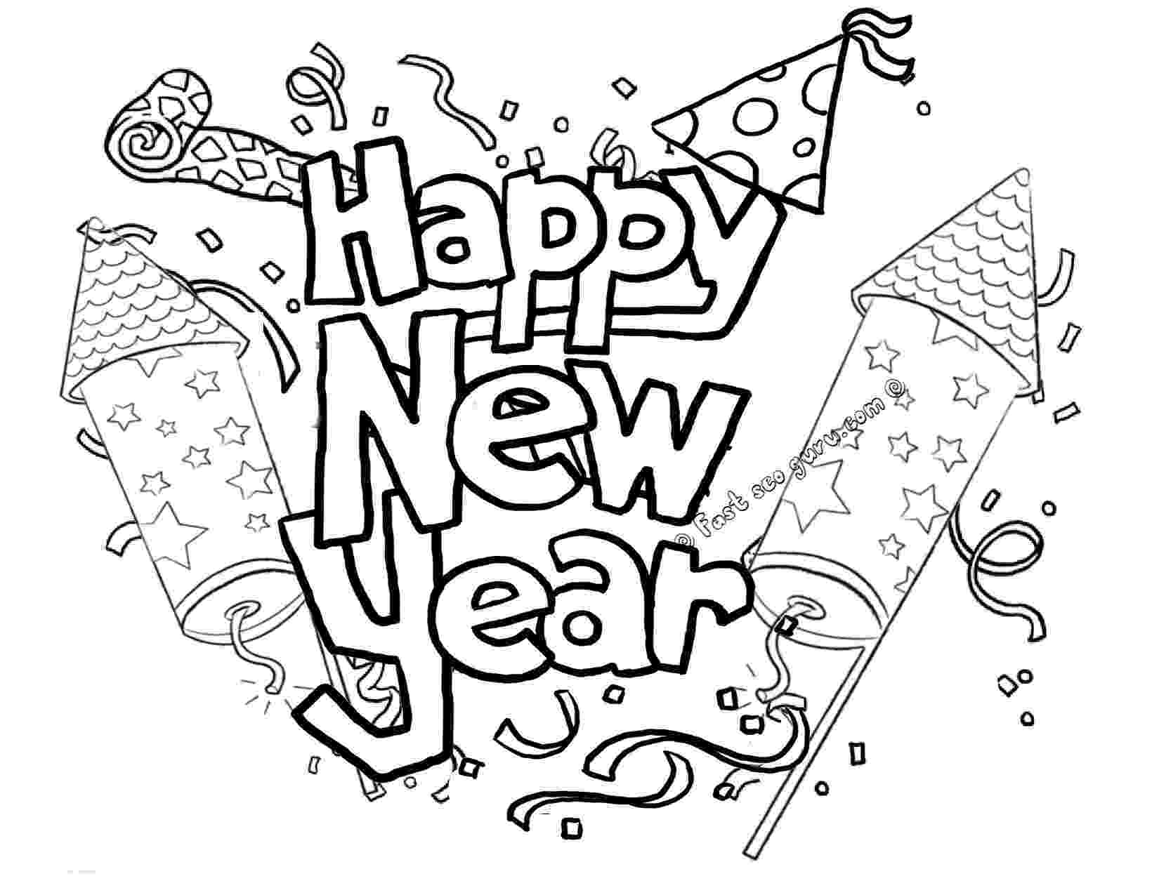 happy new year coloring pages happy new year coloring pages to download and print for free coloring happy pages new year