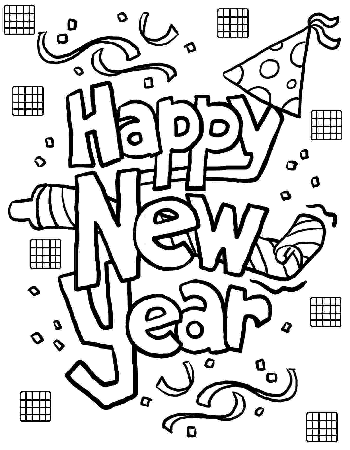 happy new year coloring pages happy new year coloring pages to download and print for free new year pages happy coloring