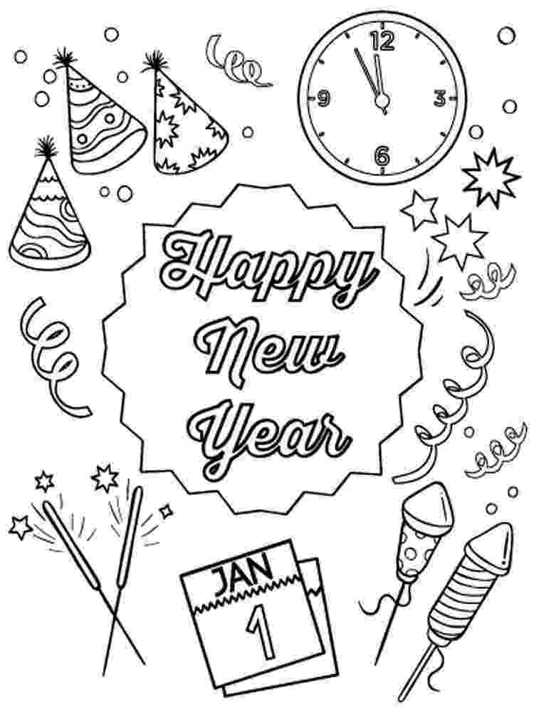 happy new year coloring pages my cup overflows happy new year 2018 coloring year new happy pages