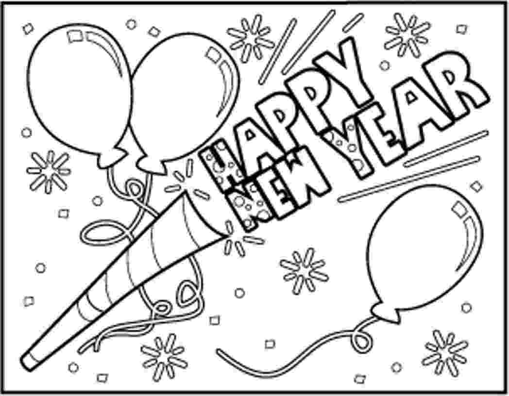 happy new year coloring pages new year coloring pages free printable happy new year new happy year pages coloring